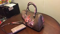 brown and pink floral leather tote bag Bakersfield, 93308