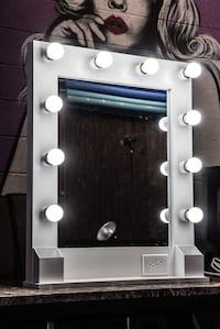 Tall Vanity Mirror with power outlet