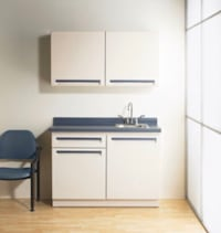 Metal sink base and wall cabinet and laminate top Monkton, 21111