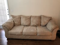 Gray suede 3-seat sofa New Braunfels, 78130