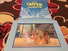 Disney Lithograph- Oliver and Company
