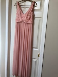 David bridal bridesmaid dress in Bellini colour size 12. Bottom of dress needs hemming  Abbotsford, V2S 8B8