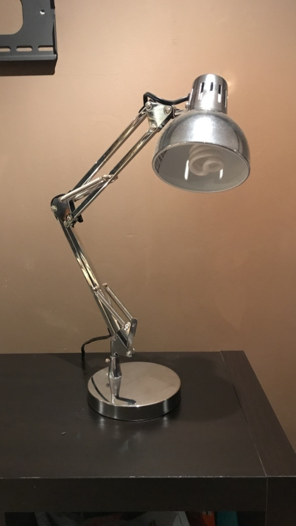 stainless steel base table lamp