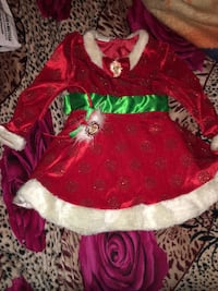 Girls minnie mouse christmas dress size3t and minnie matching headband Only worn once