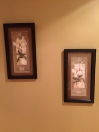 Two white orchids framed painting Newmarket, L3X 1V8