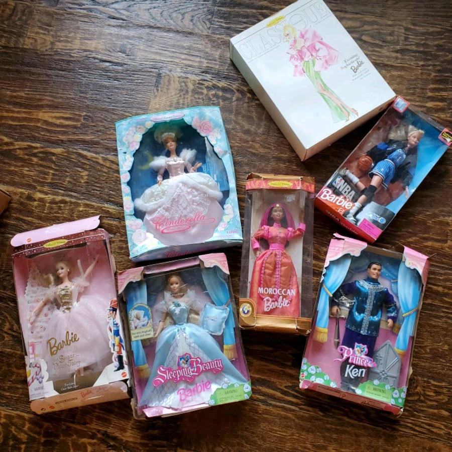 7 Collectible Barbies, must go! b32259dd-1838-414c-a794-8b59ac86dc4a