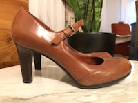 Brown Leather Mary Jane Shoes- Naturalizer Mt Vernon