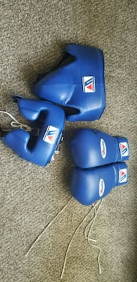 blue and black boxing gloves Thornton, 80233