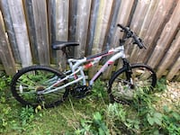 white and red mountain bike - wicked fugitive Barrie