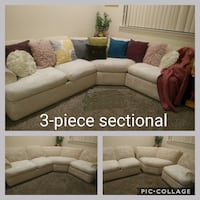 Sectional couch, 3-piece