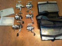 fishing stuff three tackle boxes 6 reels the reals Saint Paul, 55105