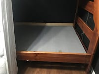 brown wooden bed frame with white mattress Austin, 78725