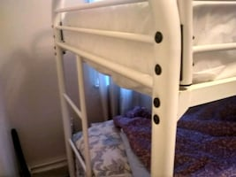 Bunk Bed Frame With New Pillow Top Twin Mattress