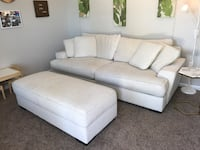 Off-White Large Sofa and ottoman