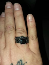 silver and black gemstone ring Bakersfield, 93308