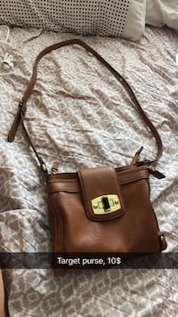 Brown leather target purse Junction City, 66441
