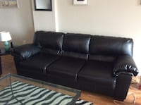 Black Leather Sofa & Love Seat (Mint Condition) Alexandria