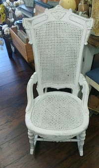 White distressed rocking chair  North Fort Myers, 33917