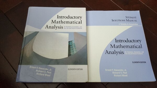 Used Introductory Mathematical Analysis Textbook and So for