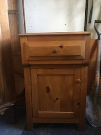 brown wooden nightstand Kawartha Lakes