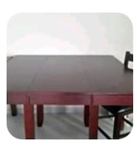 Pub height table with extra leaf