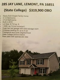 HOUSE For Sale 4+BR 3BA State College