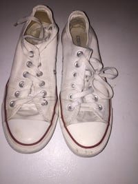 pair of white Converse All Star low-top sneakers Toronto, M5T 2J1