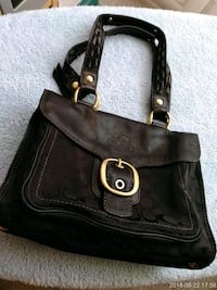 black leather Coach tote bag Silver Spring, 20910
