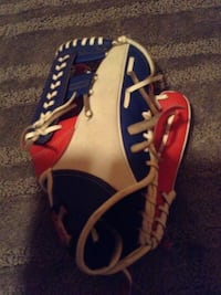Blue, white, and red leather baseball mitt Morganton, 28655