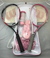 Wilson Racket Pair with Carrying Case and Accessories Cocoa, 32926
