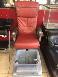 red and black leather sofa chair Pearland, 77581