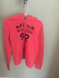 Girls size M Abercrombie orange zip hoodie Centreville, 20120