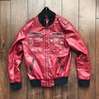 Designer Faux Leather Jacket (Men's Small) Hamilton, L8J 0G9