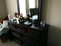 brown wooden dresser with mirror Humble, 77396