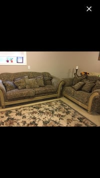 Living room set with carpet couches  Calgary, T2A 5P8