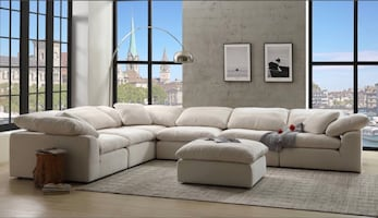 NEW ACME NAVEEN MODULAR SECTIONAL 7 PCS