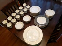 Noritake Silver Palace China. 72 piece set Media, 19063