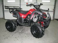 black and red ATV