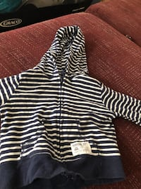 black and white striped zip-up hoodie Bolingbrook, 60440