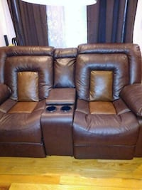brown leather home theater sofa Washington, 20018
