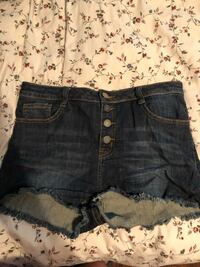 High waisted denim shorts (size 10)