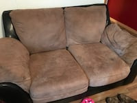 brown suede 3-seat sofa Elkton, 21921