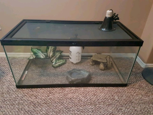 40 Gallon Reptile Terrarium and Accessories