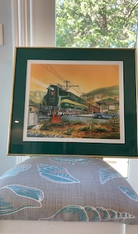 Train print in frame
