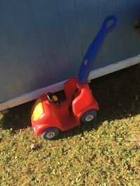 Toddler's red and blue push ride-on toy car