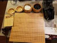 Go Board Game Set Full Size Reversible Bamboo Board With Case, Bowls, Yunzi Stones Cape Coral