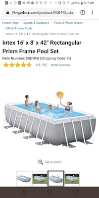 Swimming pool!!! Brand New with pump and cover included!