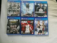 eight assorted PS4 game  Schenectady, 12302