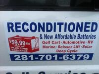 Reconditioned and New Replacement Batteries HOUSTON