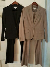 Womens black and brown suit